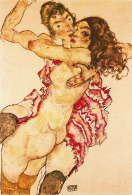 Egon Schiele. Two friends