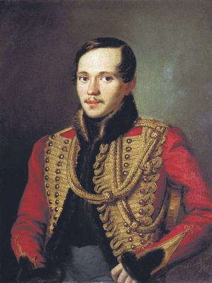 Peter Efremovich Zabolotsky. Portrait of the poet Mikhail Yuryevich Lermontov