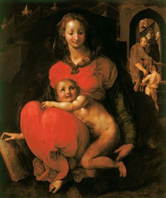 Якопо Понтормо. Богоматерь с младенцем