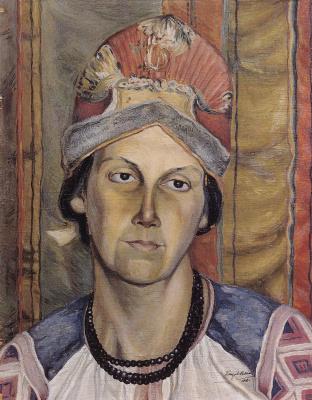 Кузьма Сергеевич Петров-Водкин. Женский портрет (Портрет неизвестной)