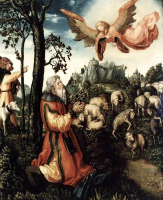Lucas Cranach the Elder. The Annunciation To Joachim