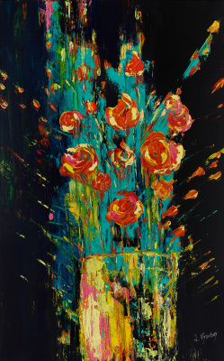 Leda Vysotsky. Flowers in Vase
