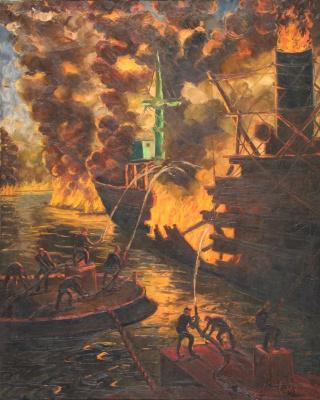 Benito Quinquela Martín. Fire