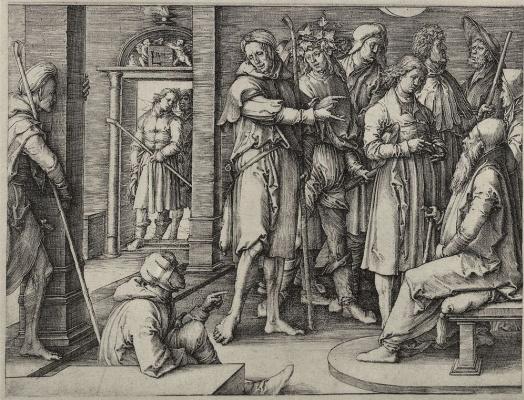 Lucas van Leiden (Luke of Leiden). Joseph telling dreams