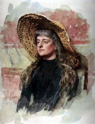 Ilya Efimovich Repin. Portrait Of Elizabeth Zvantseva Arts