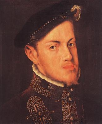 Antonis van Dashorst Mor. Portrait of Philip II, king of Spain