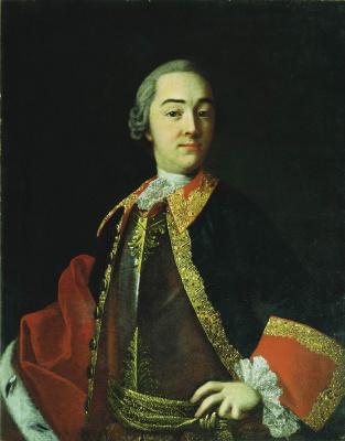 Иван Петрович Аргунов. Портрет князя Ивана Ивановича Лобанова-Ростовского. 1750