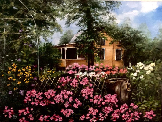 Hope Sosnovikova. House with phlox
