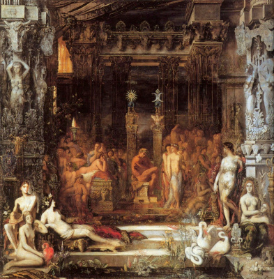 Gustave Moreau. Daughters of theseus