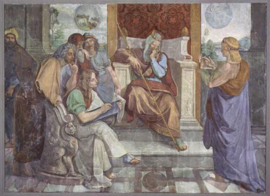 Петер фон Корнелиус. Фрески Каза Бартольди в Риме. Иосиф истолковывает сны фараона