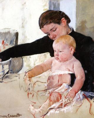 Mary Cassatt. Bathing the young heir