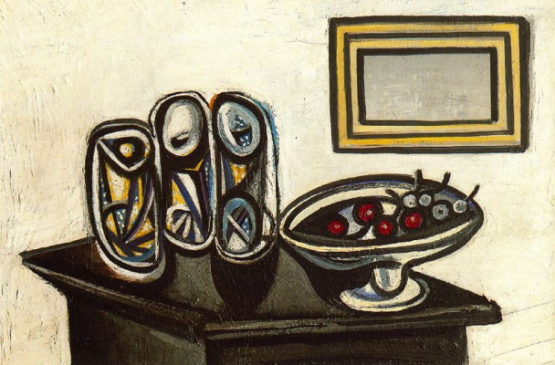 Pablo Picasso. Still life with cherries