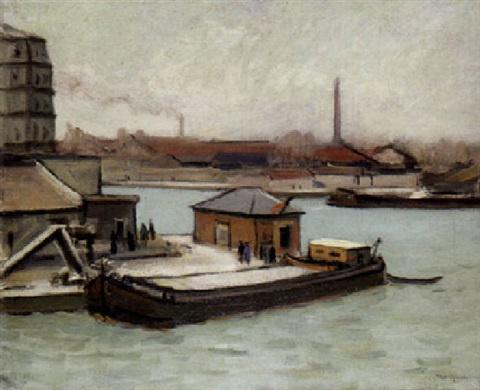 Albert Marquet. The factory in Rouen
