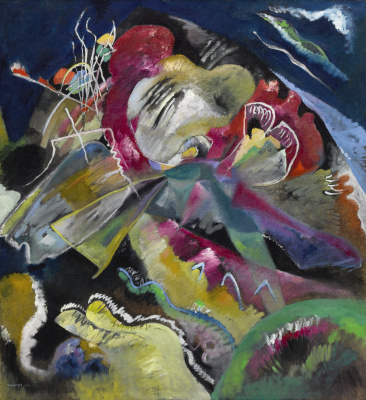 Wassily Kandinsky. Painting with white lines