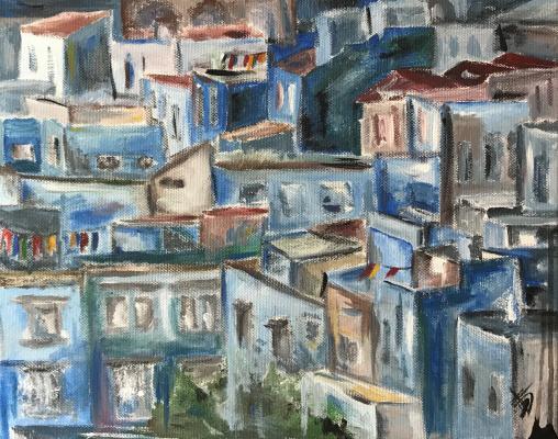 Maria Tikhonova. Blue town