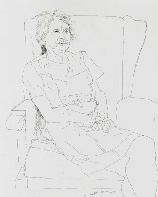 David Hockney. Portrait of the artist's mother. Mrs Laura Hockney, Bradford
