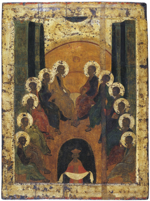 Andrey Rublev. The Descent of the Holy Spirit from the Festive Rite
