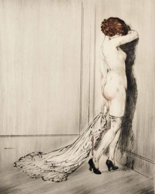 Icarus Louis France 1888 - 1950. Flirt About 1914