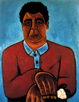 Marsden Hartley. A man with white flower