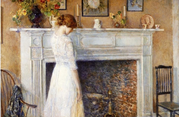 Childe Hassam. In the old house