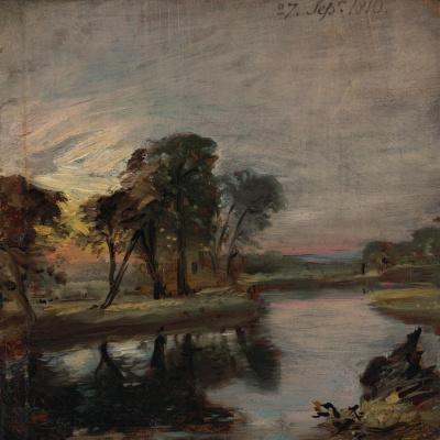 John Constable. River Stour, Kent, England