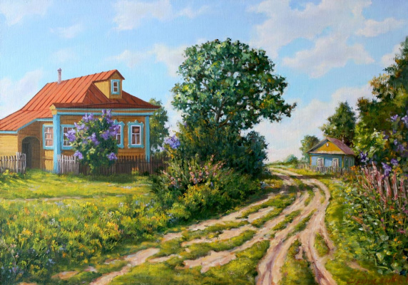 Roman Fedorovich Fedosenko. On the edge of the village