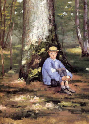 Gustave Caillebotte. Hierro.. Camille Dorell under the oak