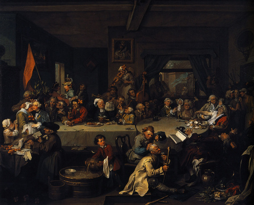 William Hogarth. Elections. Banquet