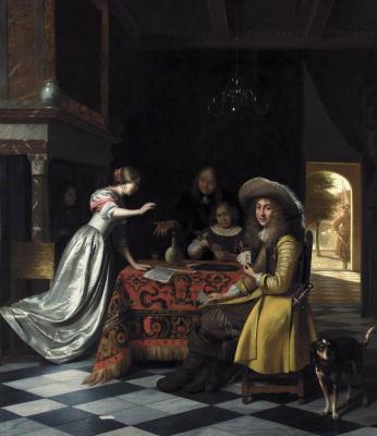 Pieter de Hooch. Card game