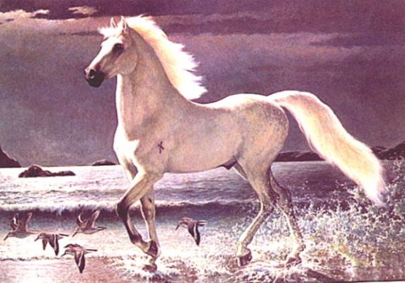 Эдвард Биерли. Белая лошадь
