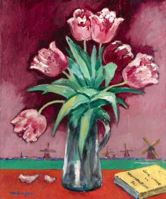 Kees Van Dongen. Vase with tulips