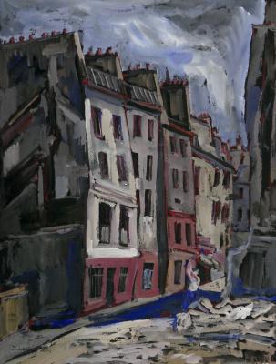 Иосиф Михайлович Левин. Париж. Городской пейзаж
