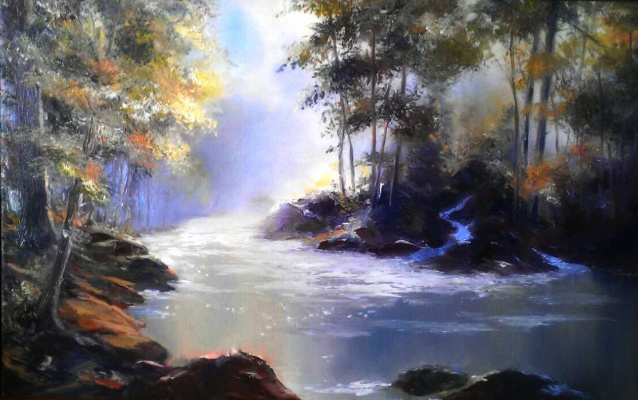 Lydia Lee. River in the forest
