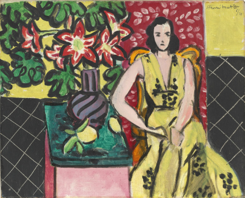 Henri Matisse. Seated Woman with a Vase of Amaryllis