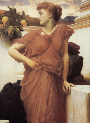 Frederic Leighton. At the fountain
