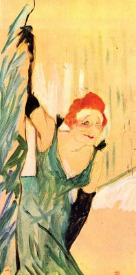 Henri de Toulouse-Lautrec. Yvette Guilbert salue le public