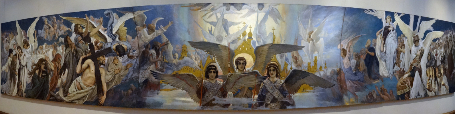 "Victor Mikhailovich Vasnetsov. Triptych ""the Joy of the righteous in the Lord. The threshold of Paradise"". The sketch for the painting of the Vladimir Cathedral in Kiev"