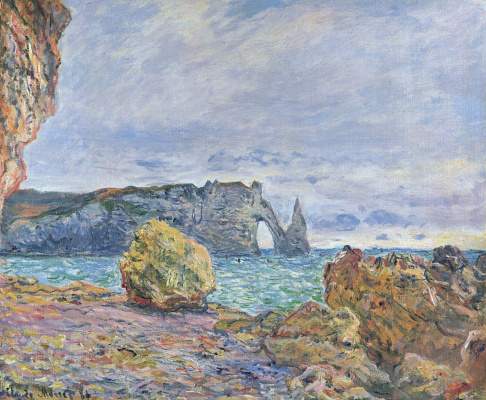 Claude Monet. Etretat, seaside and Port d Aval
