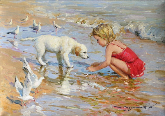 Constantine Razumov. On the coast of Trouville.