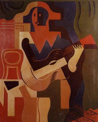 Juan Gris. Harlequin with guitar