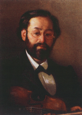 Grigory Grigorievich Myasoedov. Portrait of a violinist V. G. Walter. Tomsk Regional Art Museum
