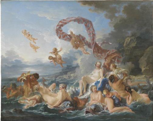 Francois Boucher. Triumph of venus