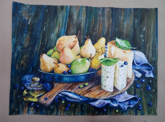 Irina Morvaniuk. Pears and cheese