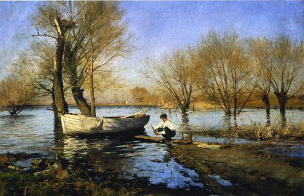 Sergey Ivanovich Svetoslavsky. High water. 1900