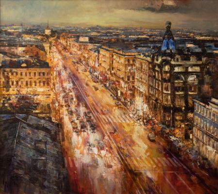 Roman Ivanovich Lyapin. Evening Nevsky
