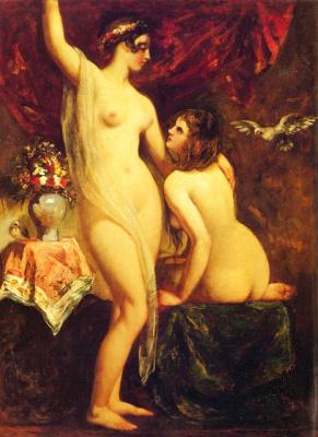 Etty William. Two Nudes in the interior