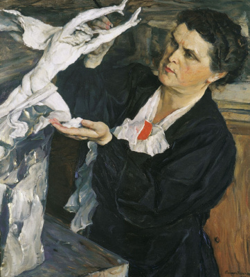Mikhail Vasilievich Nesterov. Portrait of the sculptor V. I. Mukhina