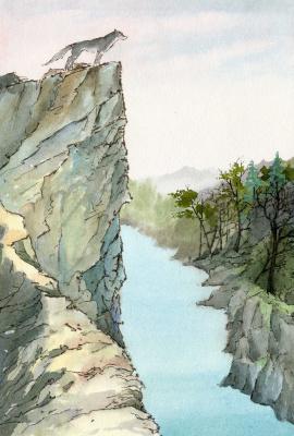 Smbat Arayevich Bagdasaryan. Turquoise river