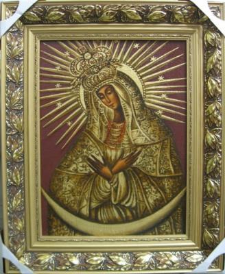 Ядвига Сенько. B. M. of God of mercy - icons of the Catholic (oil on canvas)