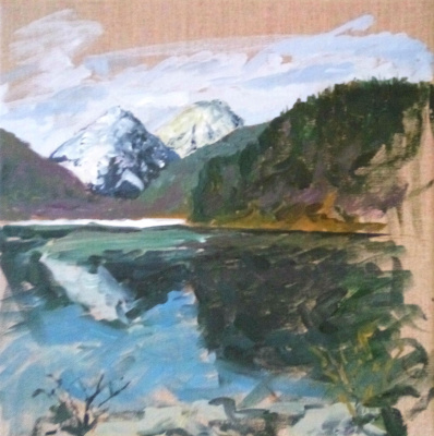 Виктория Попович. Горное озеро (Neuschwanstein)